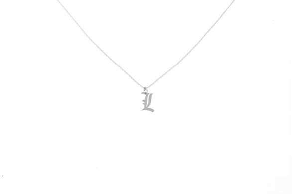 Alphabet NECKLACE Letter L silver