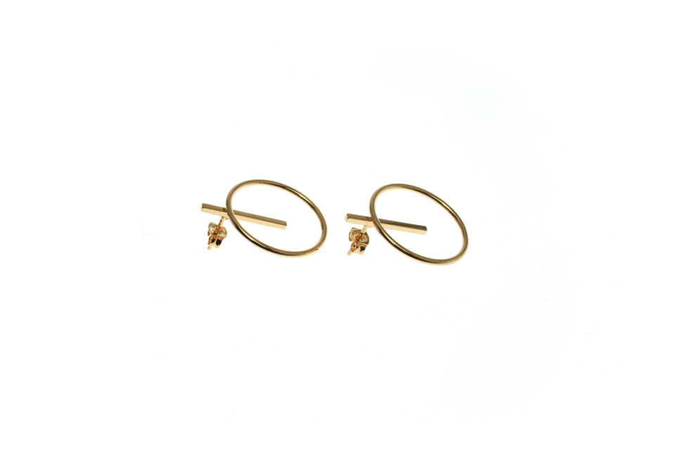 Earrings with Aspiration Circle