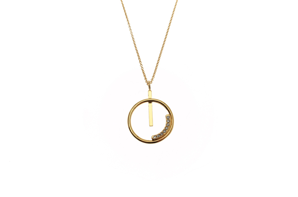 Necklace with Crystallized Aspiration Circle