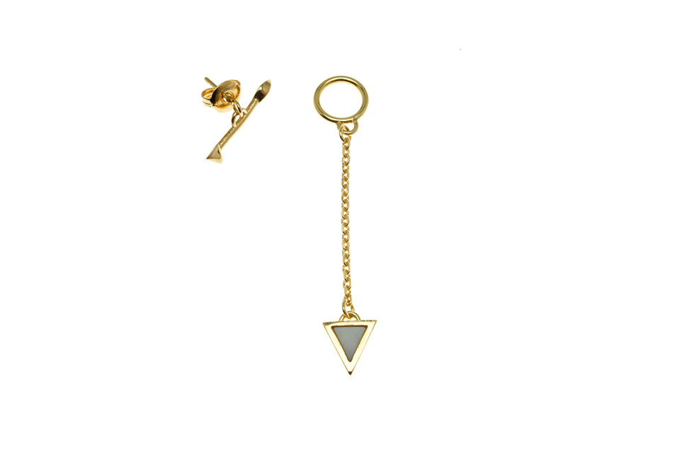 PIN EARRING TRIANG S TOGGLE S EYE+PYRAMID