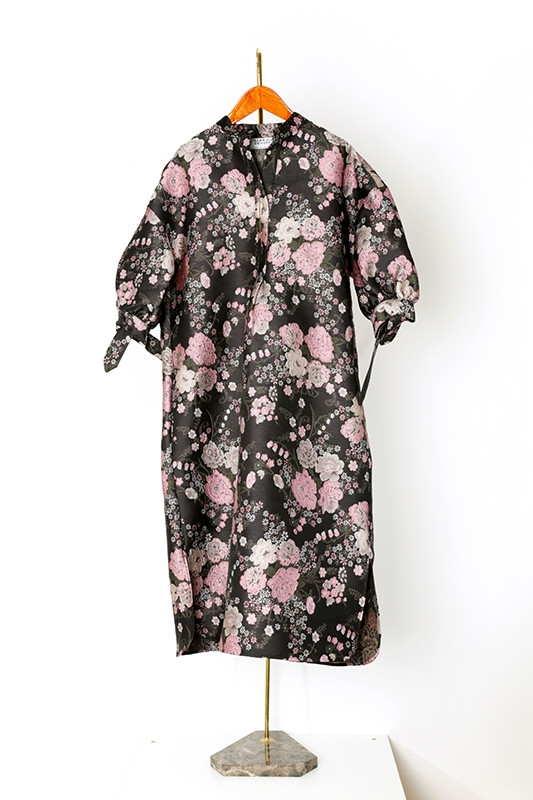 DRESS CRESPI brocade, black