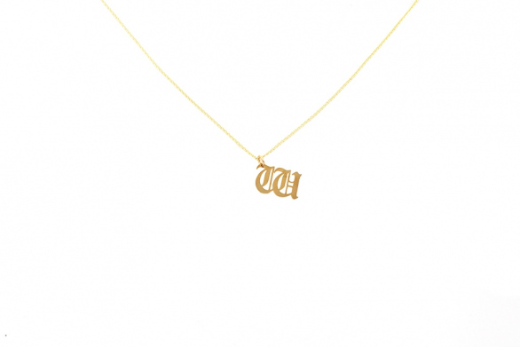 Alphabet NECKLACE Letter W