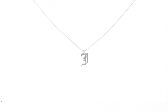 Alphabet NECKLACE Letter J silver