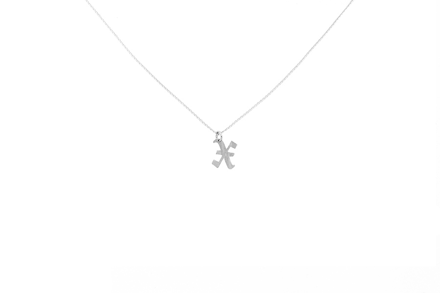 Alphabet NECKLACE Letter X silver
