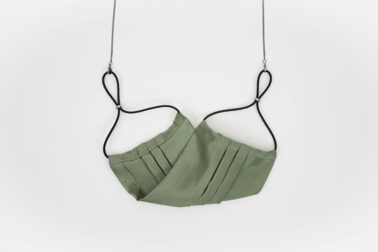 SILK MASK, olive green