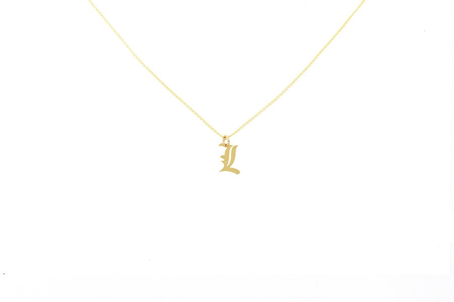 Alphabet NECKLACE Letter L