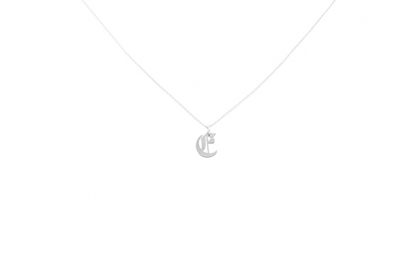 Alphabet NECKLACE Letter E silver