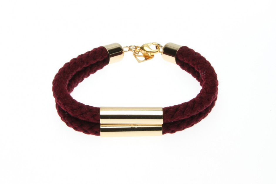 TWIN CORD BRACELET WITH TUBE