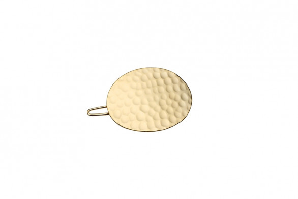 HAIRCLIP HAMMERED OVAL