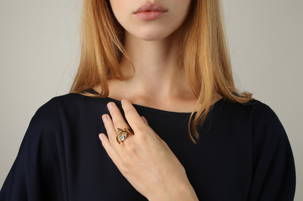 Wide ring with Triangle of Joy