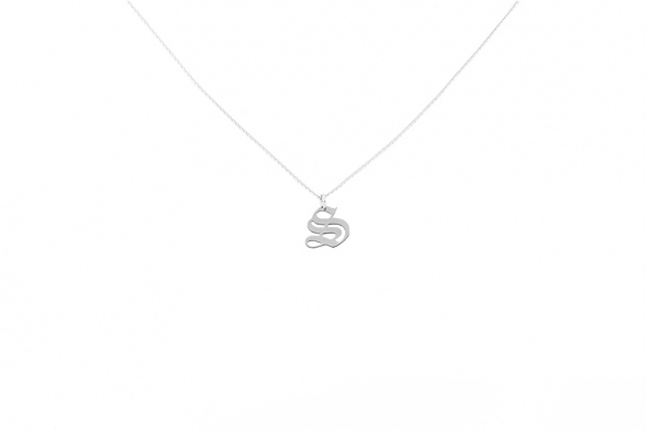 Alphabet NECKLACE Letter S silver