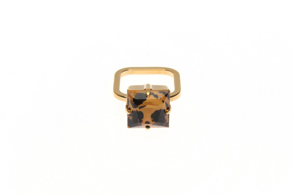 Fine ring with wild square