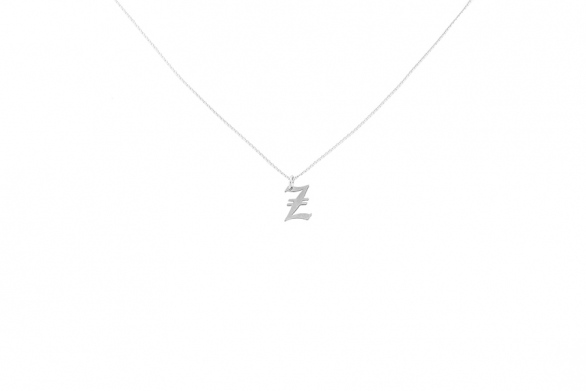 Alphabet NECKLACE Letter Z silver