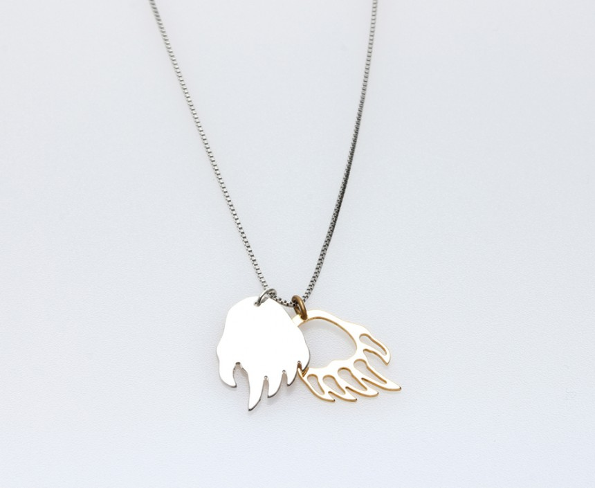 DOUBLE BEAR PAW NECKLACE