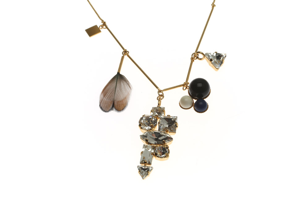 Necklace with mobile party