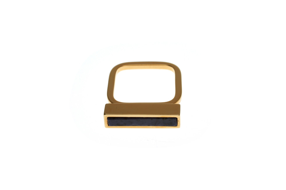 Fine Ring with gemstone Rectangle