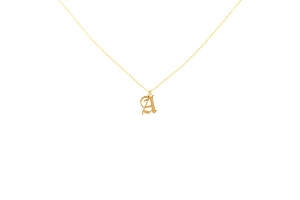 Alphabet NECKLACE Letter A