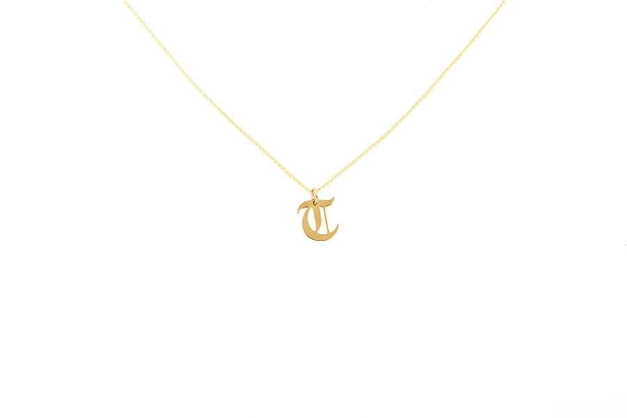 Alphabet NECKLACE Letter T