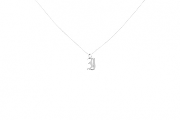 Alphabet NECKLACE Letter I silver