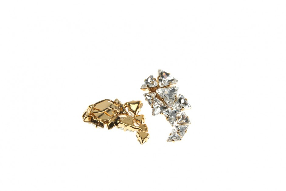 EARRING CLIPS WITH DRUSE CRYSTAL