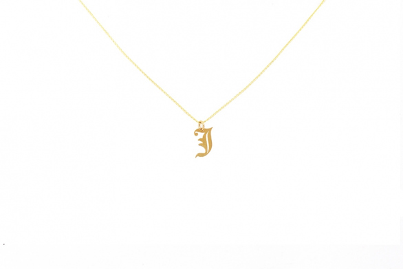 Alphabet NECKLACE Letter J